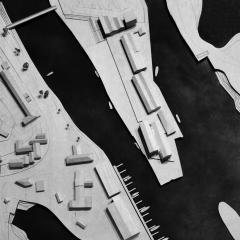 Phase 2 of the South Quay development in Hayle by Feilden Clegg Bradley Studios - model